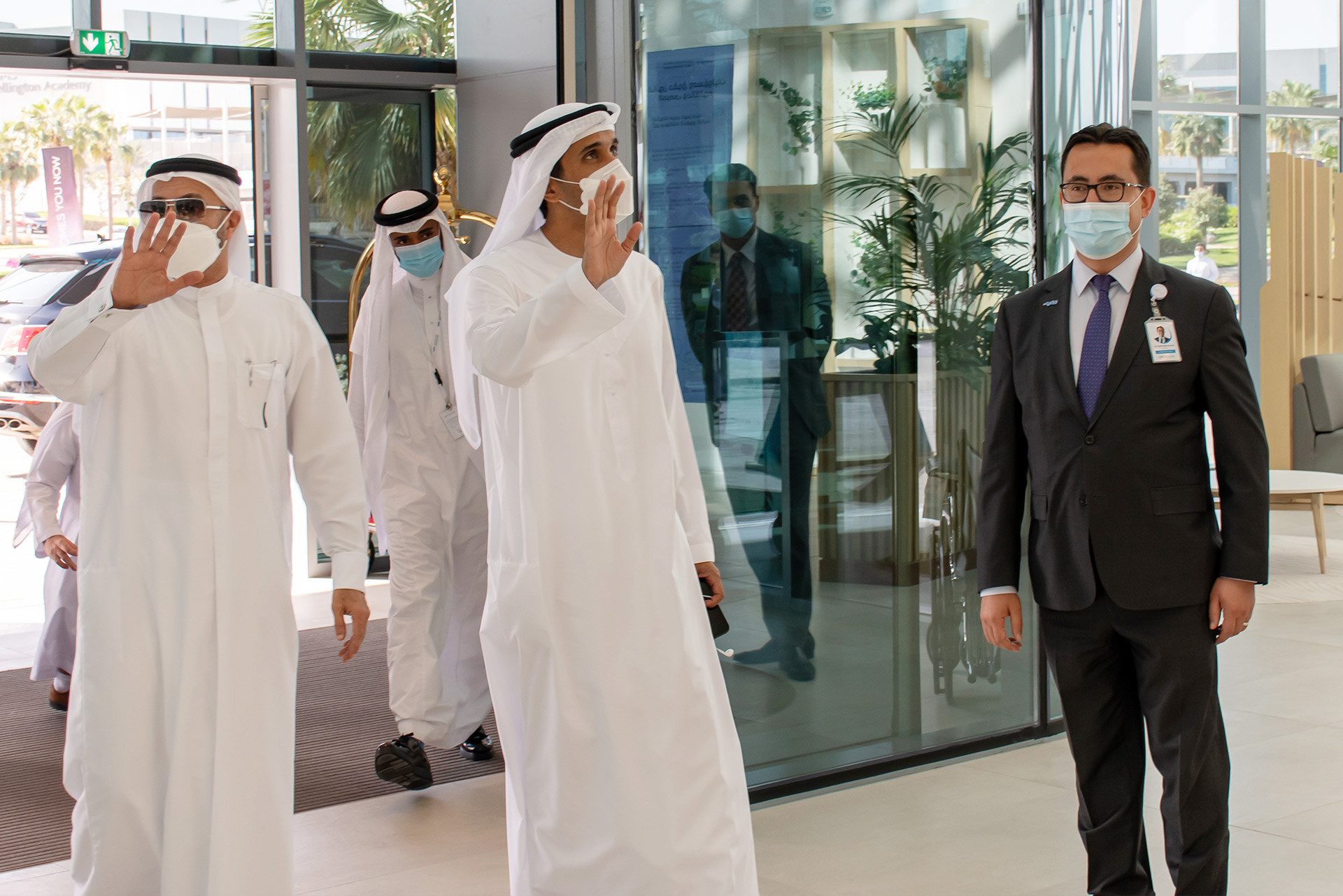 Dr. Fatih The CEO of Fakeeh University Hospital Welcoming H.E Abdulla Al-Basti