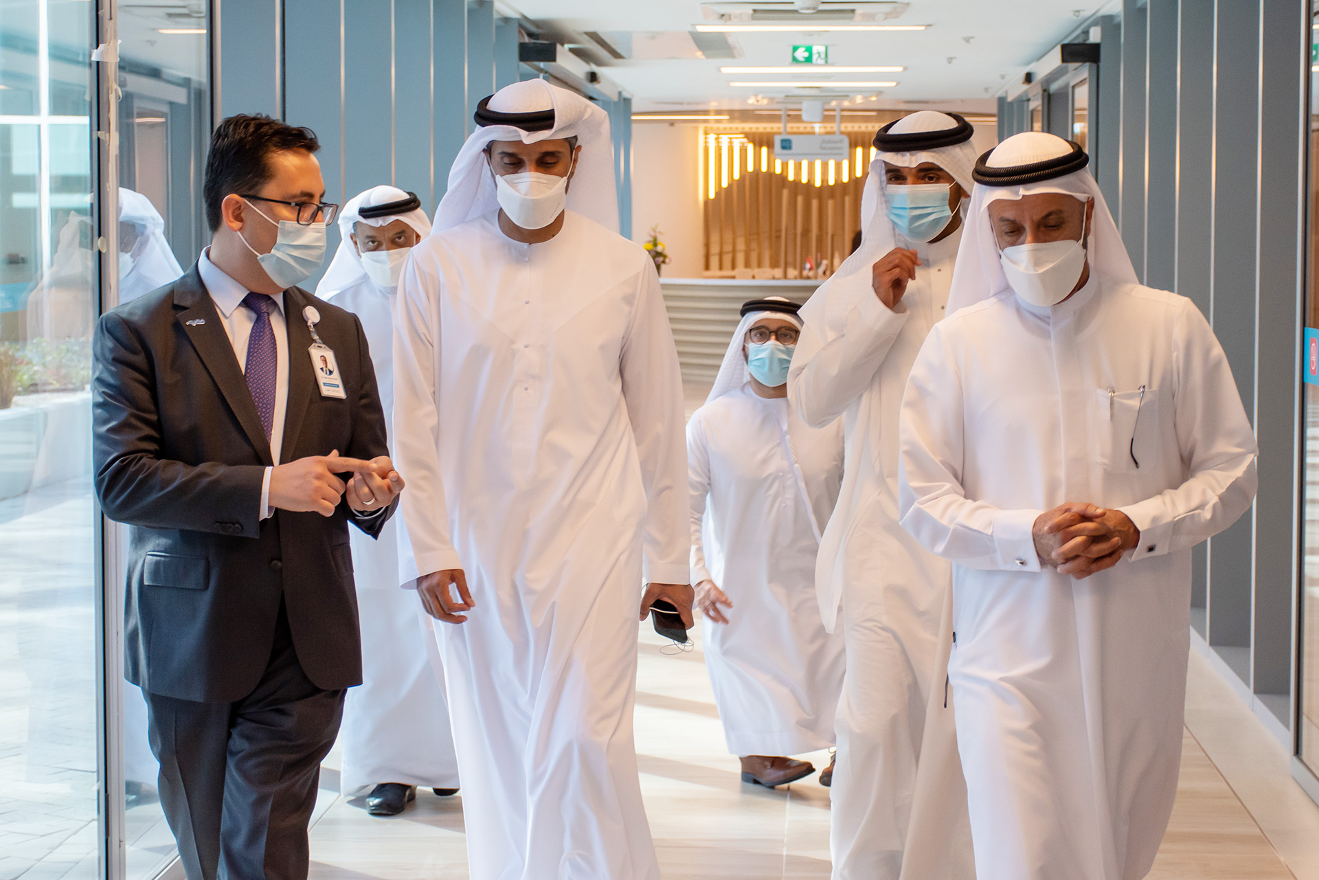 H.E Abdulla Al Basti in Hospital Tour With Dr. Fatih